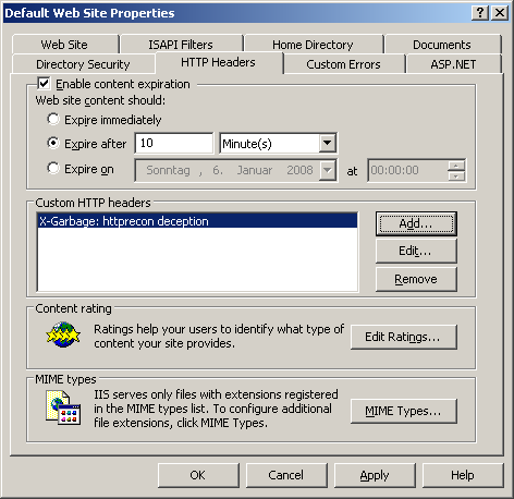 Add Custom HTTP Header in MS IIS